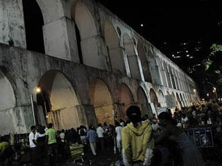 Some of the best street parties in Rio are under the Arcos da Lapa.