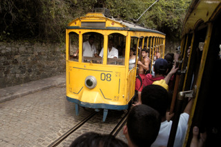 Getting around Rio: Old tram in Santa Teresa