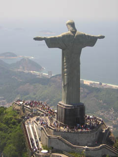 Chris The Redeemer on Corcovado mountain.