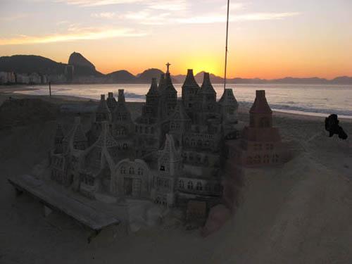 Sand castle Copacabana