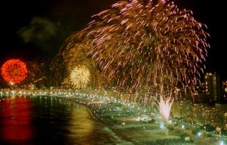 New Years in Copacabana Fireworks