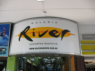 Galeria River is a good place to buy surfwear.