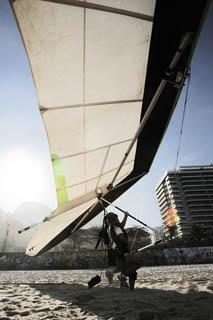 Hang gliding in Rio.