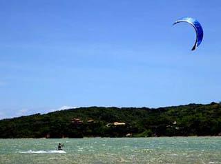 Kite surfing in Rio