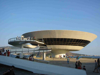 MAC in Niterói, one of the more popular Rio art museums