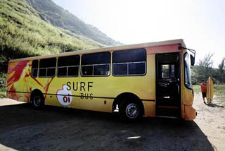 Getting around surfing in Rio - The Surf Bus
