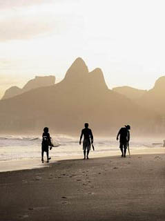 Surfing - One of the most popular sports in Rio de Janeiro.
