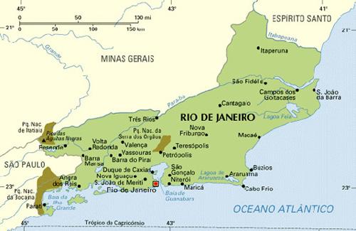 Rio de Janeiro state map