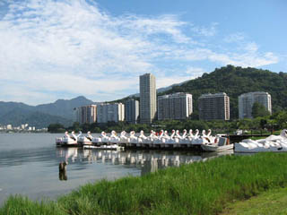 Jardim Botânico and Lagoa - Swan boats