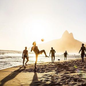 football on the beach summer in rio