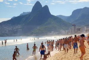 like a local in Rio on the beach