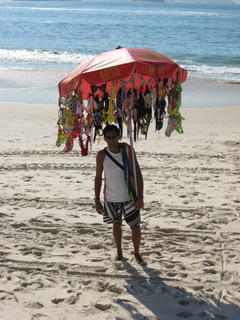 Shopping in Rio - Beach Vendor
