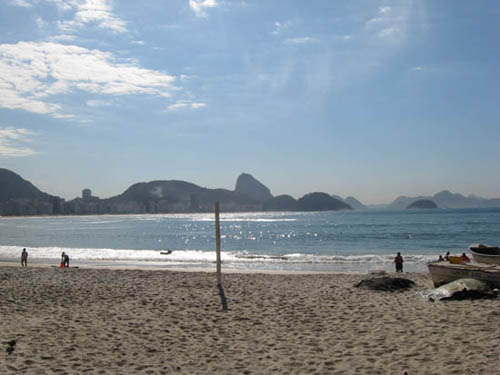 View of Sugarloaf from Copacabana Beach