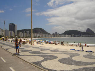 Copacabana beach walk