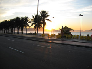 Sunrise on Copacabana Beach