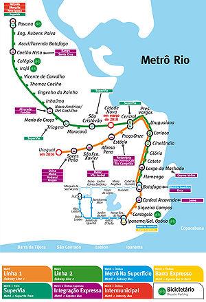 Metrô - Map of Rio de Janeiro