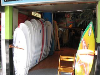 One of the board shops in Rio de Janeiro.