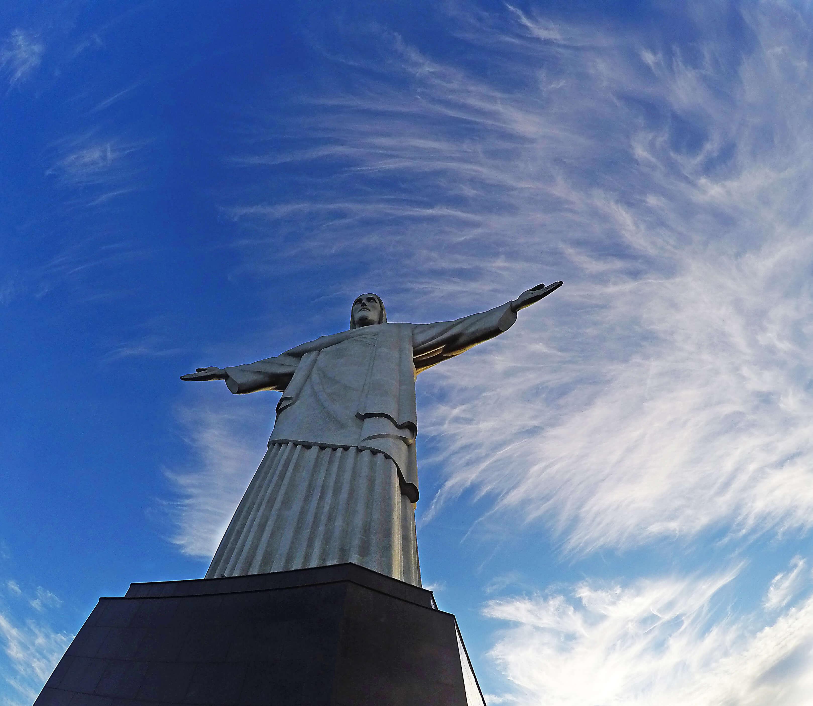 Christ The Redeemer In Rio De Janeiro Stock Photo
