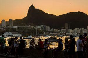 Sunset in Urca in Rio