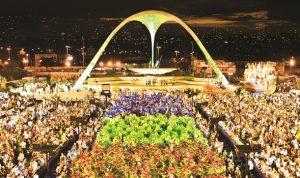 samba parade during carnival in Rio
